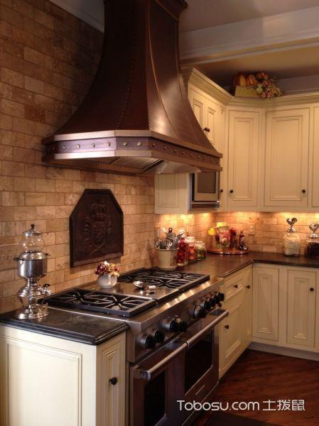 厨房地中海风格效果图大全2017图片_土拨鼠温暖温馨厨房地中海风格装修设计效果图欣赏