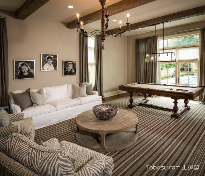 客厅美式风格效果图大全2017图片_土拨鼠豪华休闲客厅美式风格装修设计效果图欣赏