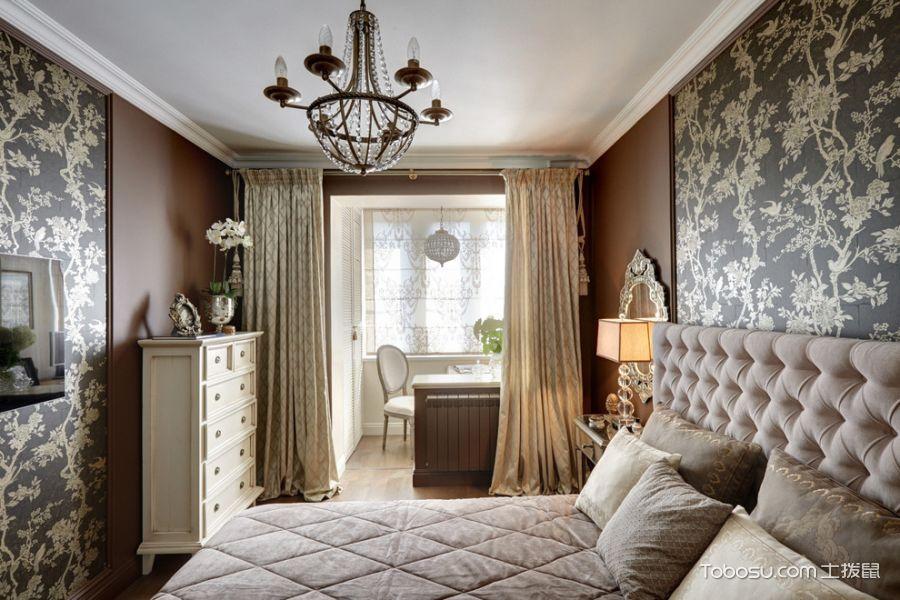 2019美式卧室装修设计图片 2019美式窗帘装修效果图片