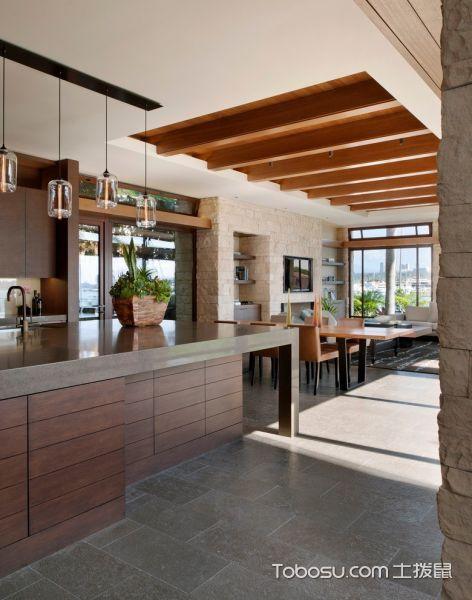 厨房现代风格效果图大全2017图片_土拨鼠清新舒适厨房现代风格装修设计效果图欣赏