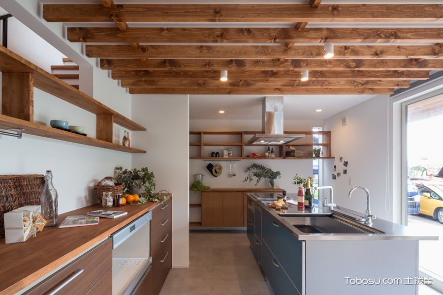 厨房现代风格效果图大全2017图片_土拨鼠完美纯净厨房现代风格装修设计效果图欣赏