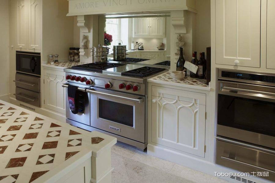 厨房美式风格效果图大全2017图片_土拨鼠干净自然厨房美式风格装修设计效果图欣赏