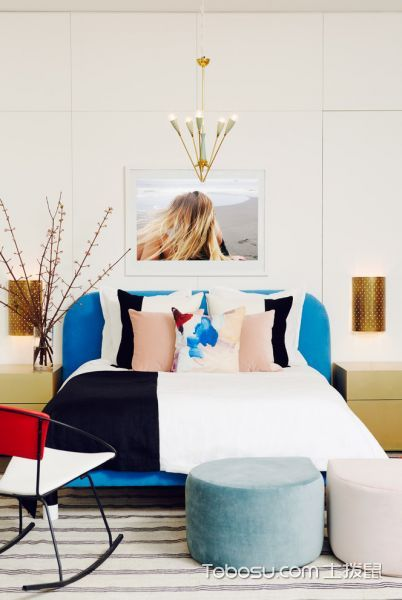 卧室混搭风格效果图大全2017图片_土拨鼠潮流写意卧室混搭风格装修设计效果图欣赏