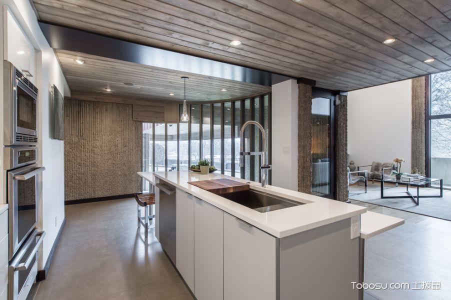厨房现代风格效果图大全2017图片_土拨鼠浪漫创意厨房现代风格装修设计效果图欣赏