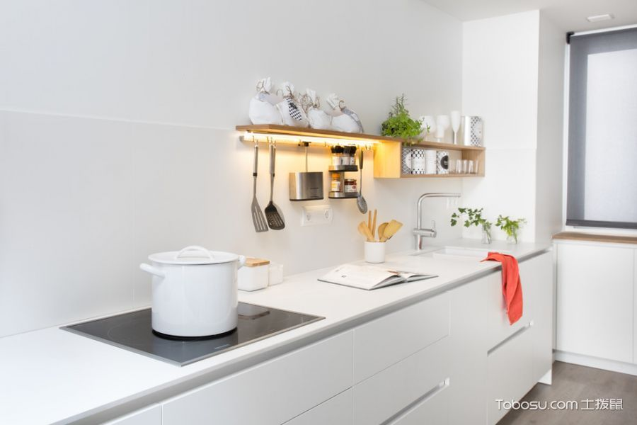 厨房北欧风格效果图大全2017图片_土拨鼠现代唯美厨房北欧风格装修设计效果图欣赏