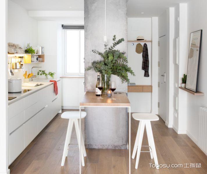 厨房北欧风格效果图大全2017图片_土拨鼠清爽富丽厨房北欧风格装修设计效果图欣赏