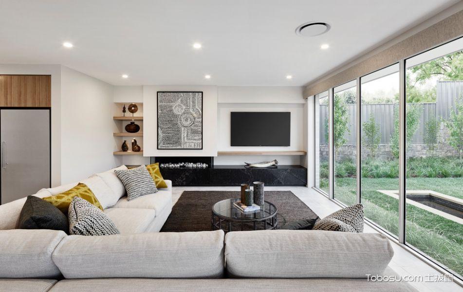 客厅现代风格效果图大全2017图片_土拨鼠优雅迷人客厅现代风格装修设计效果图欣赏