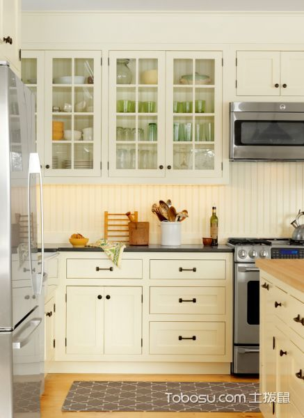 厨房美式风格效果图大全2017图片_土拨鼠豪华奢华厨房美式风格装修设计效果图欣赏