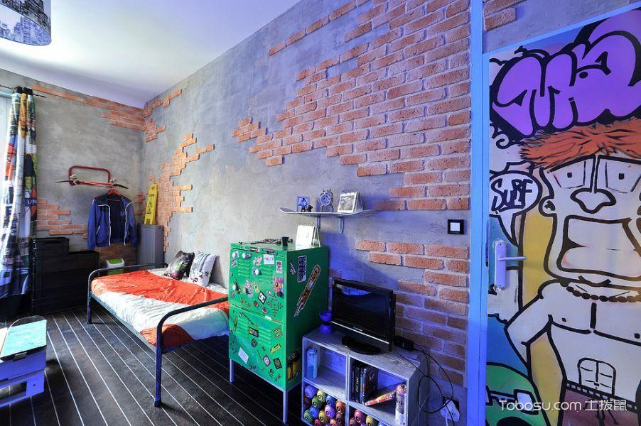 卧室混搭风格效果图大全2017图片_土拨鼠休闲创意卧室混搭风格装修设计效果图欣赏