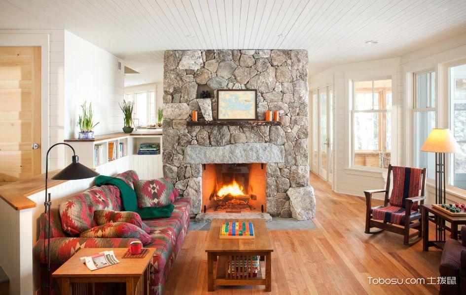 客厅美式风格效果图大全2017图片_土拨鼠文艺自然客厅美式风格装修设计效果图欣赏
