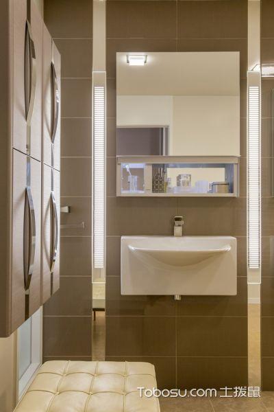 卫生间现代风格效果图大全2017图片_土拨鼠文艺舒适卫生间现代风格装修设计效果图欣赏