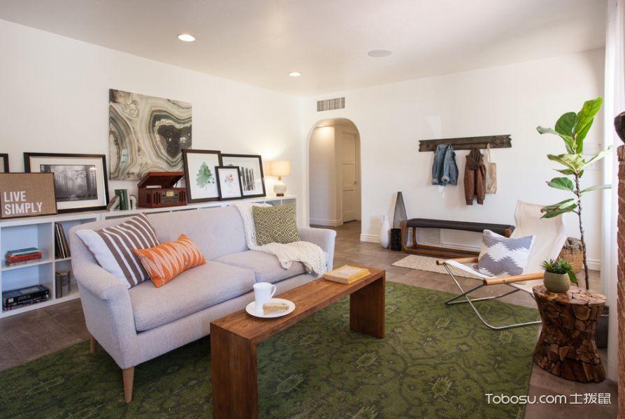 客厅混搭风格效果图大全2017图片_土拨鼠时尚舒适客厅混搭风格装修设计效果图欣赏