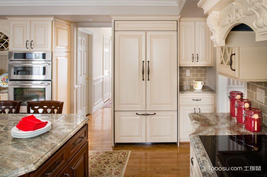 厨房美式风格效果图大全2017图片_土拨鼠极致质感厨房美式风格装修设计效果图欣赏