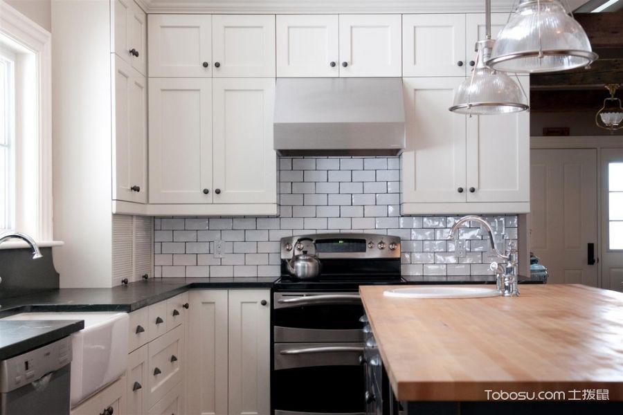 厨房美式风格效果图大全2017图片_土拨鼠休闲淡雅厨房美式风格装修设计效果图欣赏