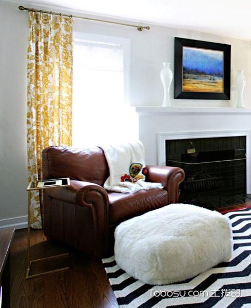 客厅混搭风格效果图大全2017图片_土拨鼠个性沉稳客厅混搭风格装修设计效果图欣赏