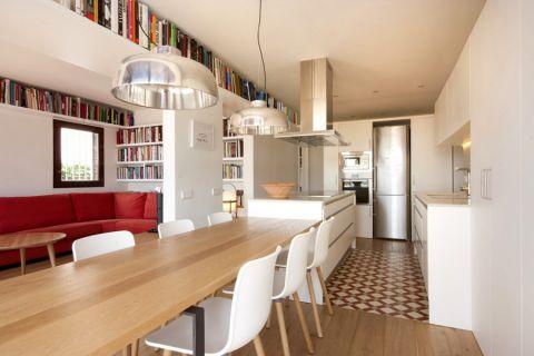 141平米一居室北欧风格装修图片