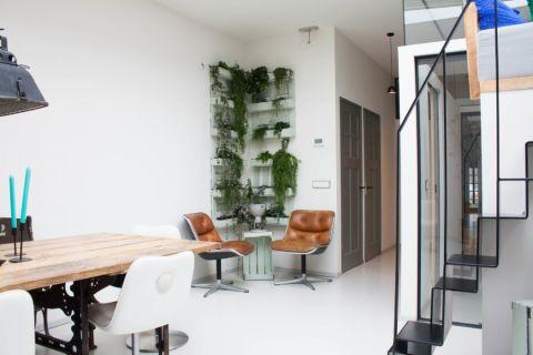 楼房107平米混搭风格装饰实景图