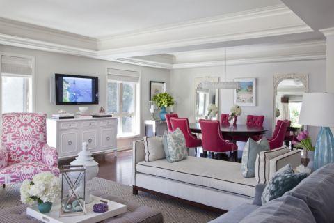 96平米一居室美式风格装修图片