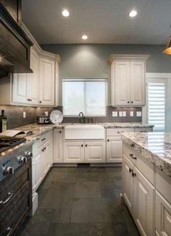 文艺厨房地砖装饰设计图片