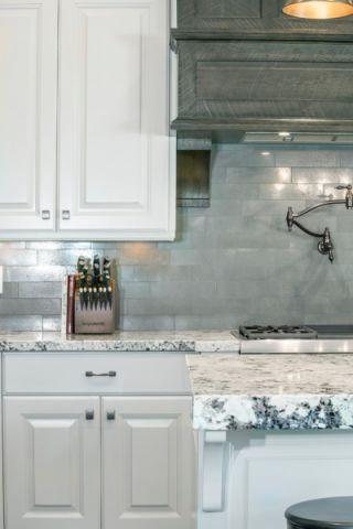 厨房灰色背景墙效果图