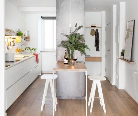 84平米一居室北欧风格装潢实景图片