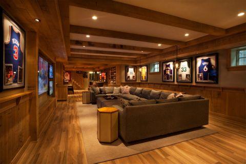 2019美式地下室效果图 2019美式沙发装修图