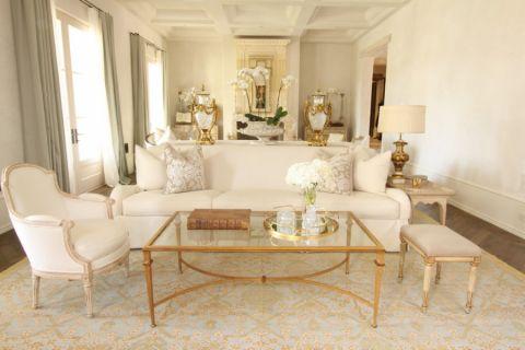 低调优雅米色沙发平面图
