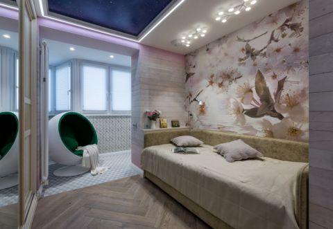 儿童房床混搭装饰图
