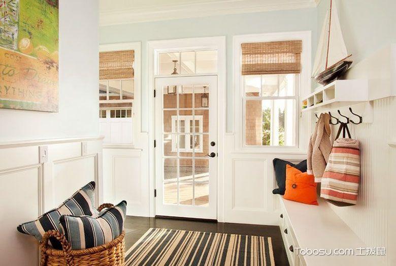 玄关白色门厅简约风格装修图片