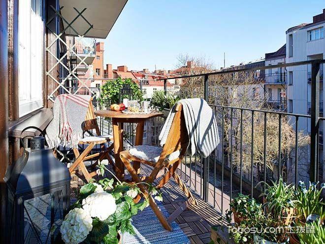 阳台白色隔断田园风格装饰设计图片