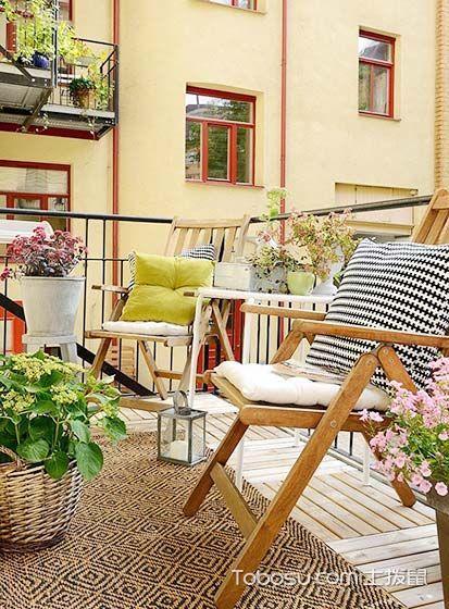 阳台米色沙发田园风格装修设计图片