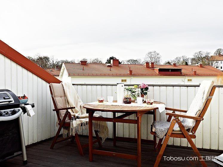 阳台白色沙发田园风格装饰设计图片
