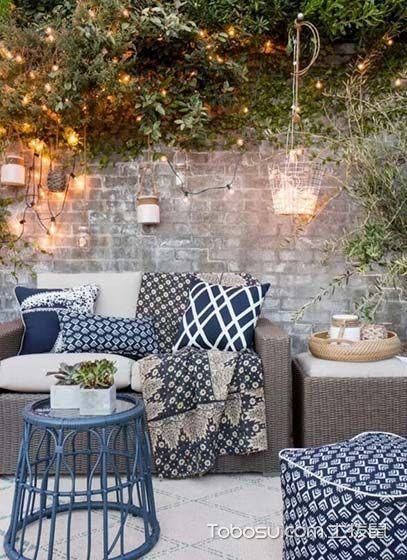 2019美式阳台装修效果图大全 2019美式沙发装修效果图片