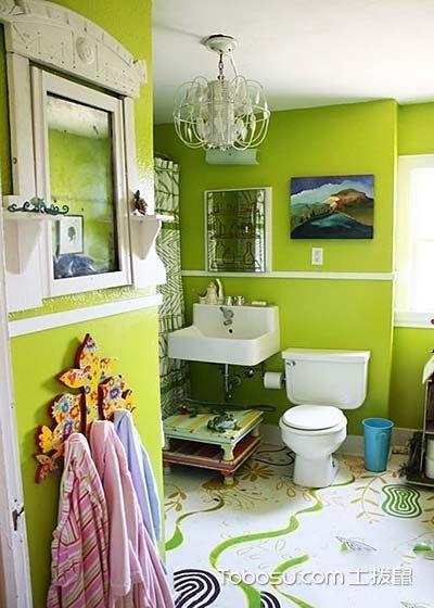 豪华简单绿色背景墙图片