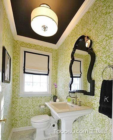 典雅绿色洗漱台设计图