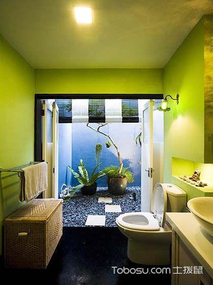 唯美绿色卫生间装修图