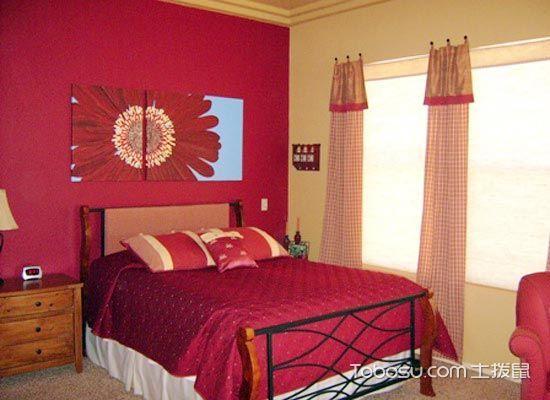 跳动的家居  10个红色系卧室装修效果图