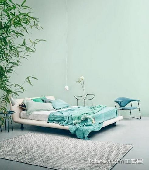 独具一格简约绿色背景墙装修设计