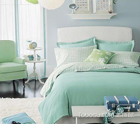 文艺绿色床装修