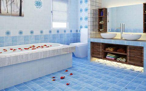 典雅地中海蓝色地砖装饰设计图片