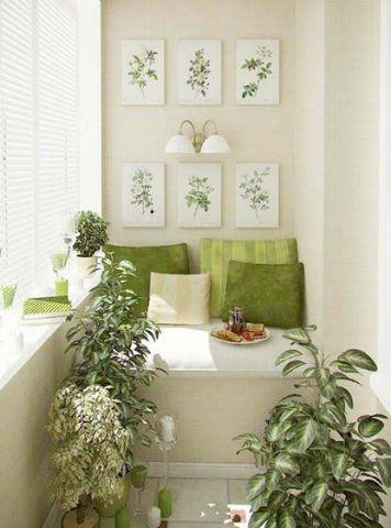 阳台沙发美式风格装潢图片
