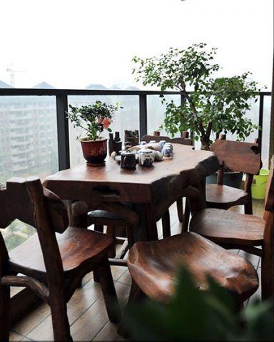 阳台窗帘现代装饰效果图