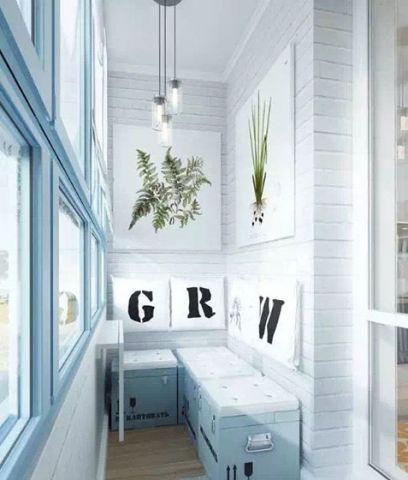 唯美蓝色沙发装修案例图片