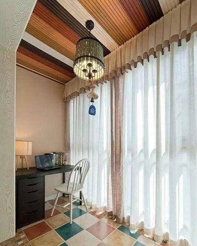 阳台蓝色沙发效果图
