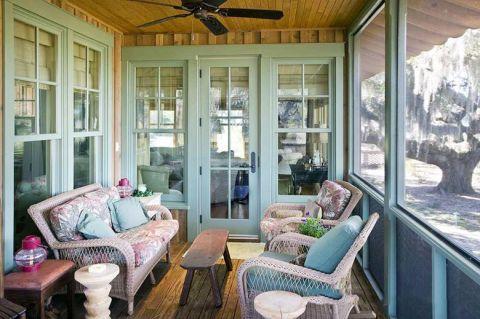 阳台沙发田园家装设计