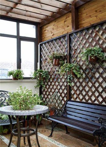 田园阳台沙发设计图片