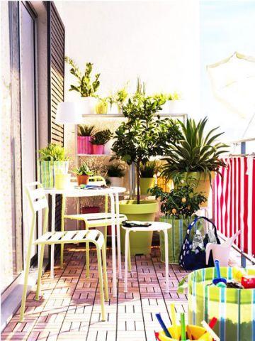 阳台咖啡色细节装潢设计图片