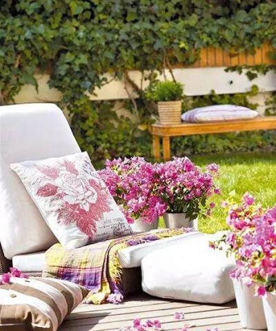 田园阳台沙发装修图片