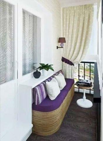 质朴蓝色阳台装修设计图片