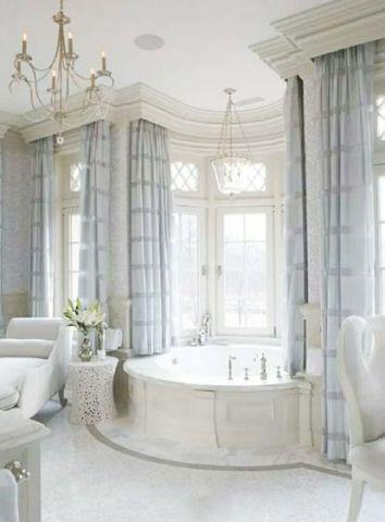 温馨浴室浴缸室内装修图片